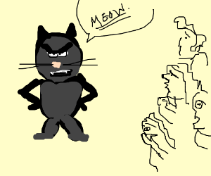 cats threaten people with underlined meow