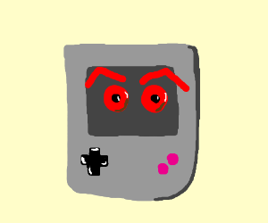 Classic Gameboy is angry