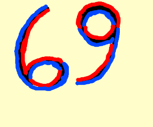 """Someone"" likes the number 69 but can't draw"