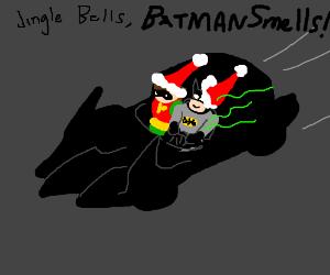 Batman develops horrible stench as super power