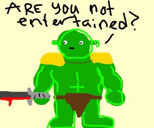 Shrek as a gladiator