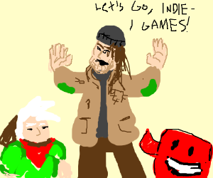 Hobo takes his indie games and leaves.