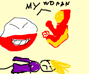 Electrode and Iron Man fight over a woman