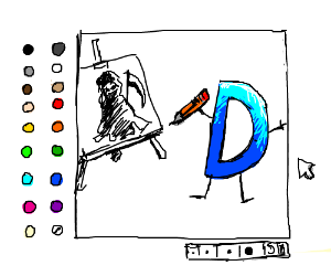 drawing of drawception drawing of grim reaper
