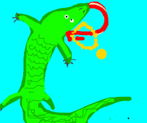 Aligator fails to affix bling to self