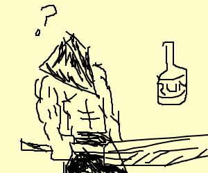 pyramid head (silent hill) confused by rum
