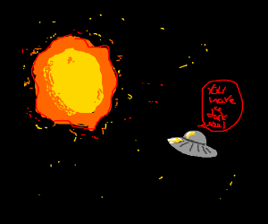 Space Invaders pester the sun about dark souls