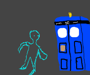 Blue ghost borrows the TARDIS