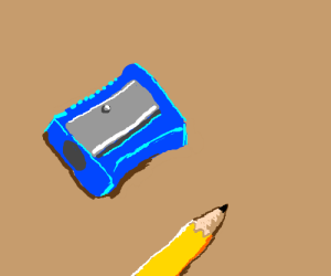 Blue pencil sharpener