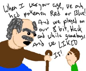 Grandpa Tells Child of Pokemon History