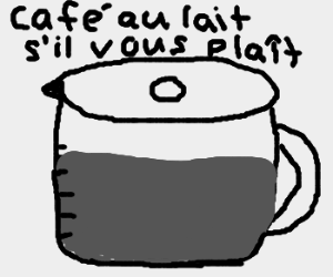 Coffee pot needs more milk