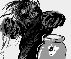 Zombie wants some delicious milk