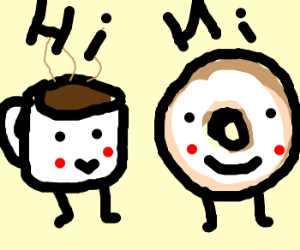 Donut talking to coffee