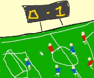 high scoring soccer match :P