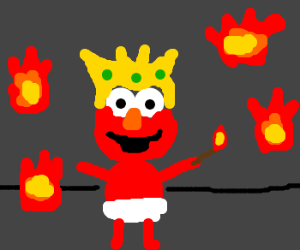 Elmo the king of fire