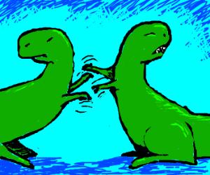 T-Rex catfight