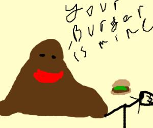 Mud Man Kills Boy For His Burger