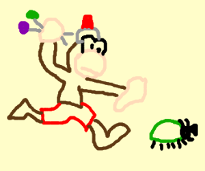 Ape Escape Collects Bugs and Candy to Eat
