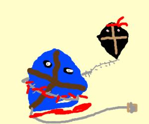 Kite is killed by ninja kite.