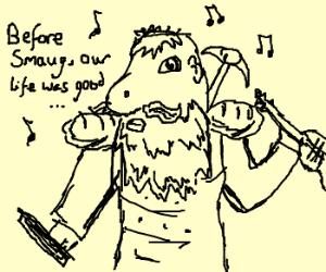 Dwarf bard sings of better times