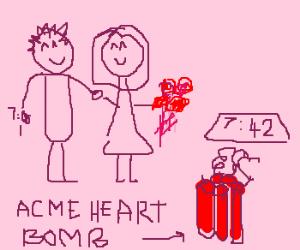 Valentines man will detonate bomb at 7:42