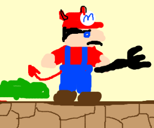 Mario dies wrld 1-1 gets reincarnated as devil