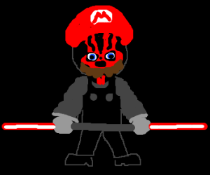 Mario joins the dark side