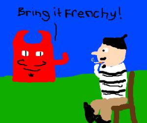 A frechman takes on sqaure devil