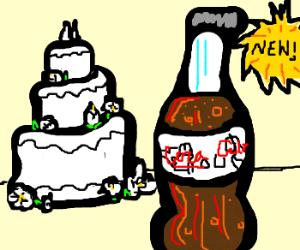 To go with the wedding cake, try Wedding Coke