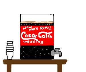 New Wedding Coca-Cola. Now with MORE RUM!!!