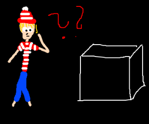 Where's waldo figures out what is in the box