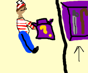 Waldo opens mystery box, finds cane & sword