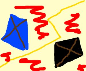Ultimate Showdown: Blue Kite vs. Black Kite.