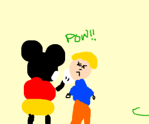 Mickey opens a can of whoopass