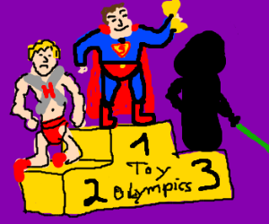 Superman wins fail toy olympics