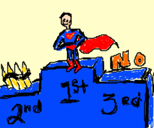 1st place: Superman, 2nd: Ammo,... No 3rd.