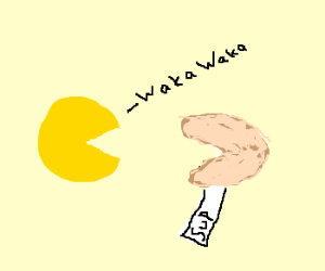 Pacman meets illegitimate bro Fortune Cookie