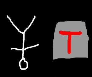 upside down man by 'T'-box