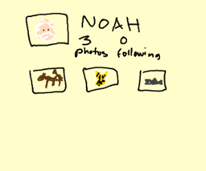Noahs instagram account