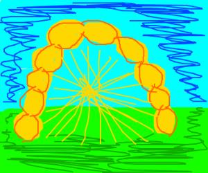 Golden gate of lemons