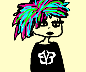 emo girl with BVB shirt