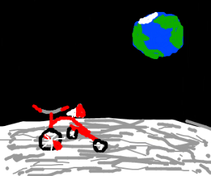 Tricycle on the moon