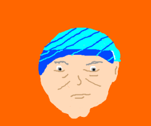 Old man wearing a beanie