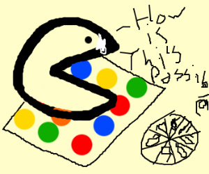Cocained Pacman playing twister.