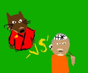 Mister Miyagi VS Master Splinter