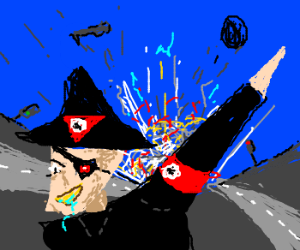 Third Reich Pirate 'D' diverts traffic.