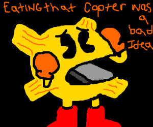 Pacman swallows propeller
