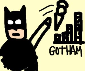 Batman throwsice cream at Gotham