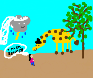 that giraffe married a storm and told bella
