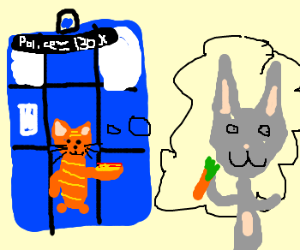 Garfield makes Tardis to steal from Bugs Bunny